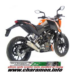 pot d 39 chappement leovince pour ktm 125 duke 125 i e 2011 2012 vers. Black Bedroom Furniture Sets. Home Design Ideas